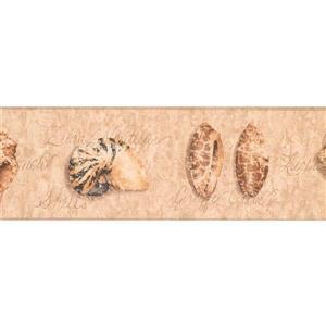 York Wallcoverings Distressed Seashells Wallpaper - Light Brown