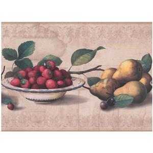 York Wallcoverings Fruit Wallpaper - Beige