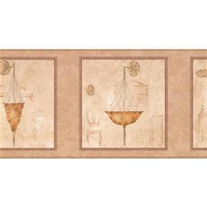 York Wallcoverings Italian Chandeliers in Squares Wallpaper - Brown