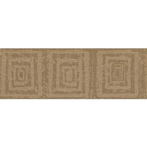 York Wallcoverings Abstract Squares Wallpaper - Green/Brown