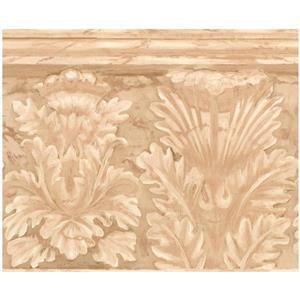 York Wallcoverings Abstract Flowers Wallpaper - Beige