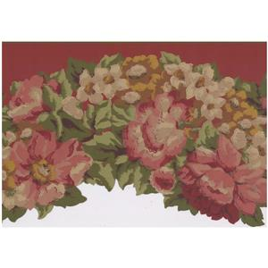 York Wallcoverings Painted Floral Wallpaper