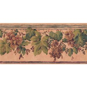 York Wallcoverings Floral Wallpaper - Orange/Brown