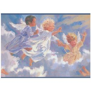 York Wallcoverings Baby Angels Flying in the Sky Wallpaper Border
