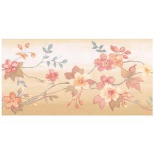 Norwall Autumn Flowers on Vine Wallpaper
