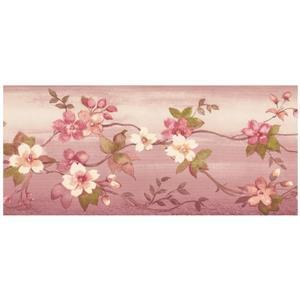 Norwall Summer Flowers on Vine Wallpaper Border