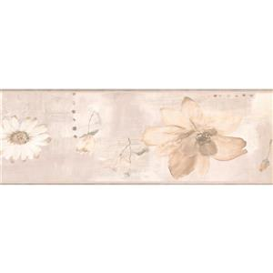 York Wallcoverings Abstract Floral Vintage Wallpaper - Beige