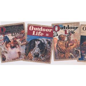 York Wallcoverings Outdoor Life Journals Wallpaper