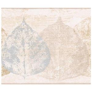 Norwall Distressed Leaves Wallpaper - Off-White