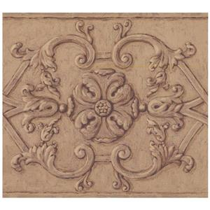 Norwall Abstract Victorian Wallpaper - Brown