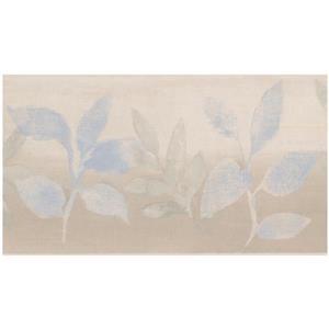 Norwall Abstract Plants Foggy Wallpaper  - Blue/Beige