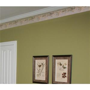 Norwall Decorative Vines and Molding Traditional Wallpaper