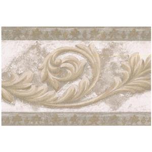 Norwall Abstract Damask Vines Rhombus Wallpaper - Brown/Grey