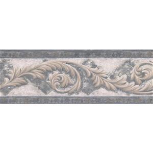Norwall Damask Vines Rhombus Wallpaper - Beige