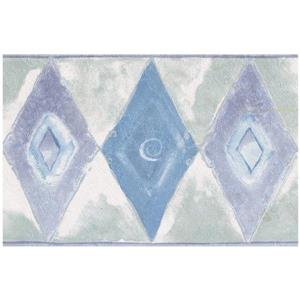 Norwall Abstract Rhombus Wallpaper Border - Blue/Purple