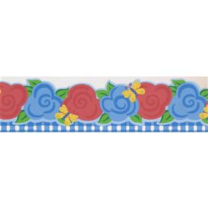 Norwall Stylized Floral Wallpaper Border