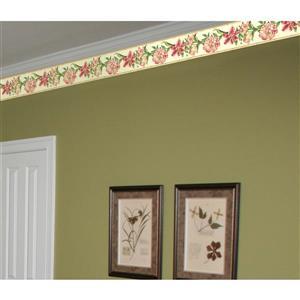York Wallcoverings Flowers on Vine Wallpaper - Pink/Green