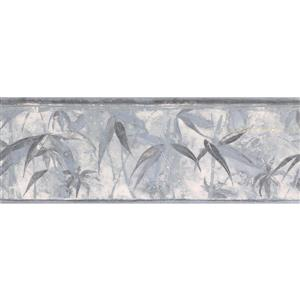 Norwall Tropical Plants Distressed Wallpaper  - Grey