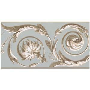 York Wallcoverings Prepasted Abstract Damask Wallpaper - Gold