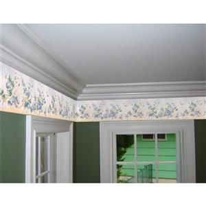 Retro Art Prepasted Bluebells on Vine Floral Wallpaper