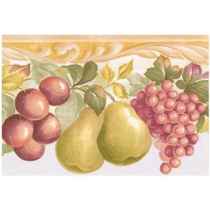 Norwall Prepasted Fruit Wallpaper