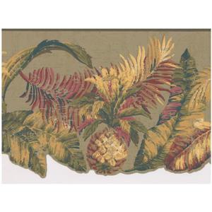 York Wallcoverings Prepasted Pineapple Tropical Wallpaper