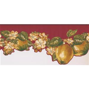 York Wallcoverings Prepasted Fruits and Flowers Wallpaper