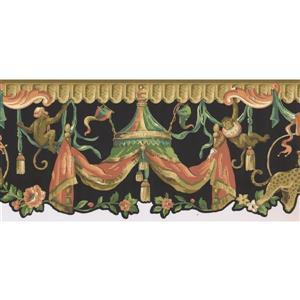 York Wallcoverings Prepasted Oriental Monkeys Wallpaper