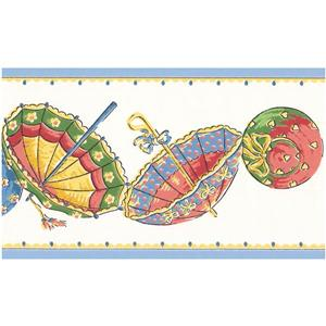 York Wallcoverings Prepasted Beach Umbrellas Wallpaper