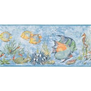 York Wallcoverings Prepasted Seahorse and Starfish Wallpaper