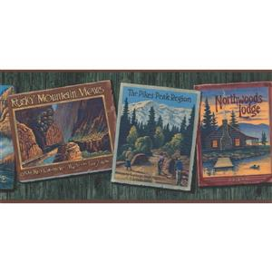 York Wallcoverings Prepasted  Famous Places Plaques Wallpaper