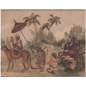York Wallcoverings Prepasted Monkeys as Medieval People Wallpaper
