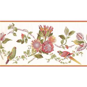 York Wallcoverings Prepasted Colorful Parrots on Vine Wallpaper
