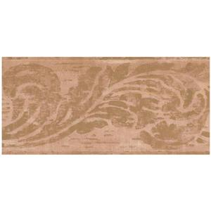 York Wallcoverings Prepasted Abstract Damask Wallpaper - Brown