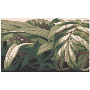 York Wallcoverings Prepasted Abstract Grapes and Leaves Wallpaper