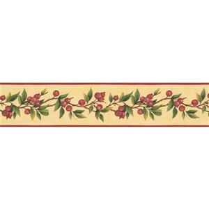 Norwall Prepasted Berries on Vine Wallpaper Border