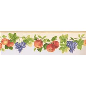 Norwall Prepasted Apples and Apricots Wallpaper - Mauve
