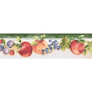 Norwall Prepasted Apple and Strawberry Wallpaper