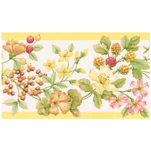 Norwall Prepasted Wallpaper Border - Yellow/Orange