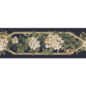 York Wallcoverings Prepasted Flowers on Trellis Fence Wallpaper - White