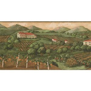 Norwall Prepasted Country Life Wallpaper - Green