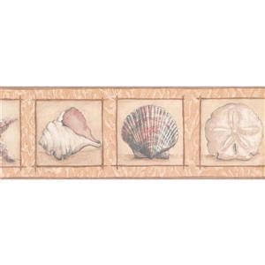 York Wallcoverings Prepasted Starfish and Seashell Wallpaper - Beige