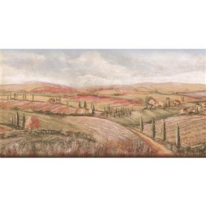 York Wallcoverings Prepasted Village Fields and Skies Wallpaper