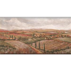 York Wallcoverings Prepasted Village Fields and Cloudy Skies Wallpaper
