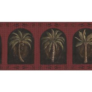 York Wallcoverings Prepasted Palm Trees in Windows Wallpaper