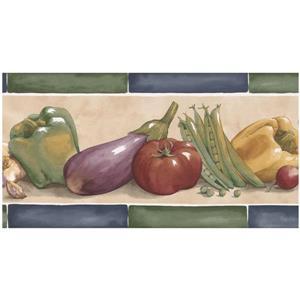 Norwall Prepasted Pepper and Vegetables Wallpaper