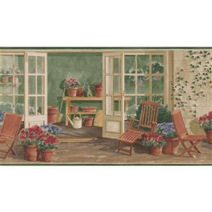 Norwall Prepasted Vintage Porch Wallpaper Border
