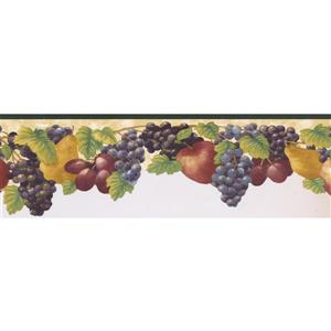Norwall Prepasted Grapes and Plum Wallpaper Border