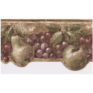 Norwall Prepasted Vintage Fruit Wallpaper Border