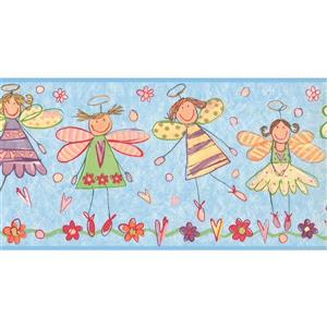 York Wallcoverings Prepasted Kids Angels Wallpaper Border